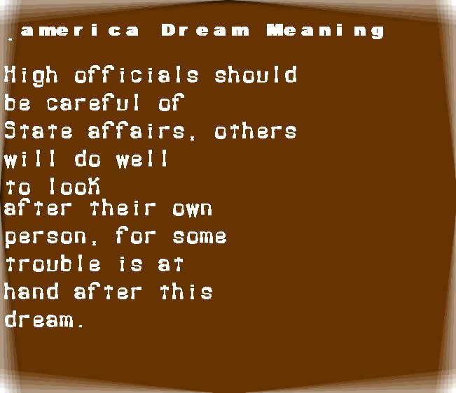 america dream meaning