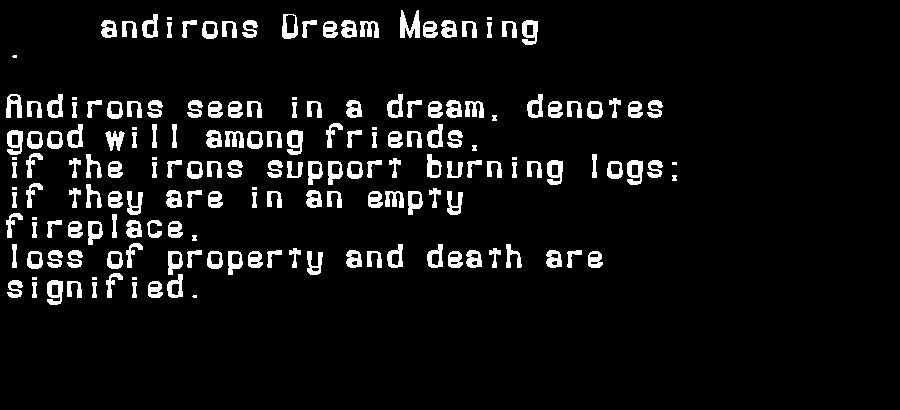 andirons dream meaning