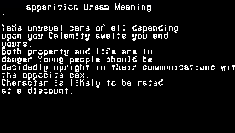 apparition dream meaning