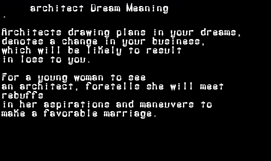 architect dream meaning