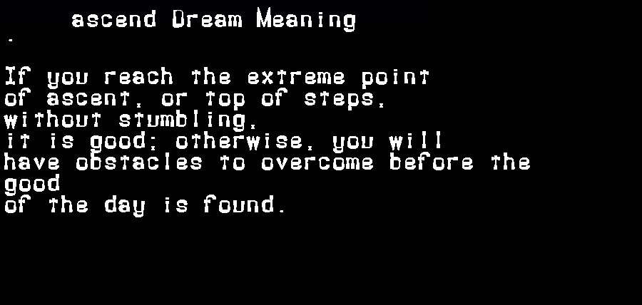 ascend dream meaning