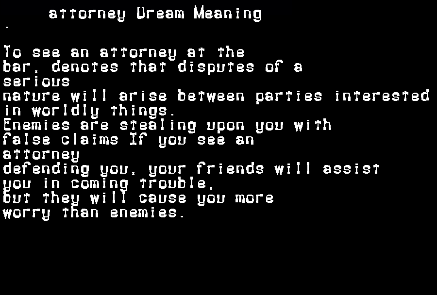 attorney dream meaning