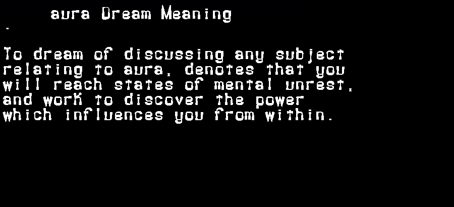 aura dream meaning