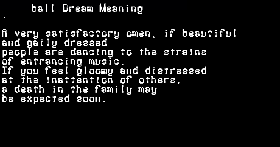 ball dream meaning