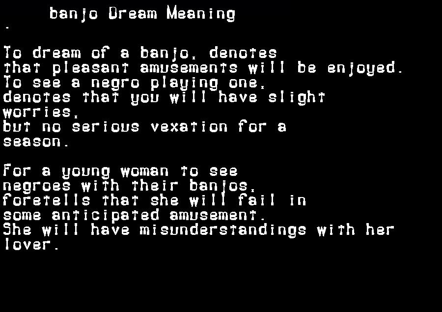 banjo dream meaning