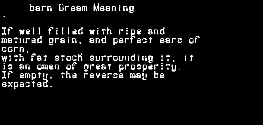 barn dream meaning