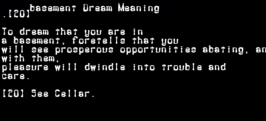 basement dream meaning