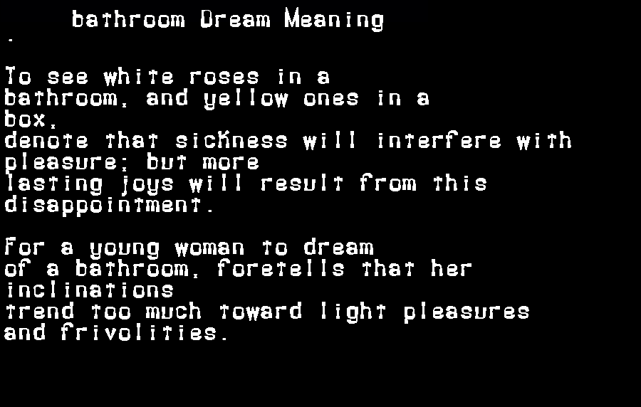 bathroom dream meaning