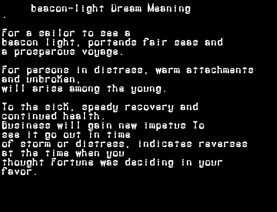 beacon-light dream meaning