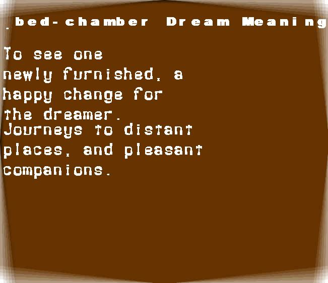 bed-chamber dream meaning