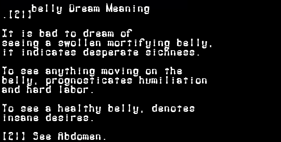 belly dream meaning