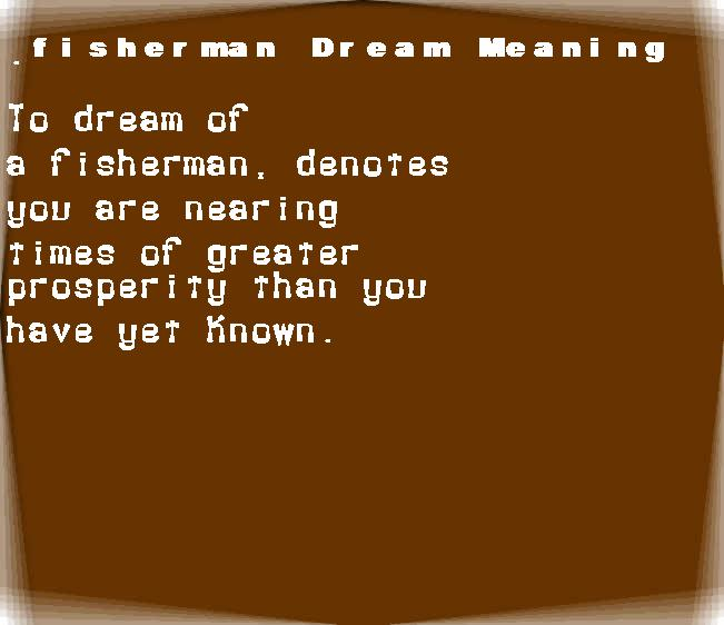 fisherman dream meaning