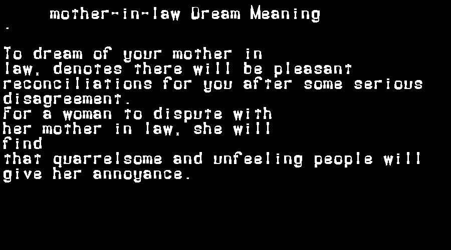 mother-in-law dream meaning